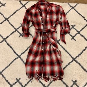 Polo Ralph Lauren Plaid Fringe Dress